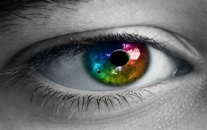 Eyes Colorful Selective Coloring Closeup Wallpapers Backgrounds