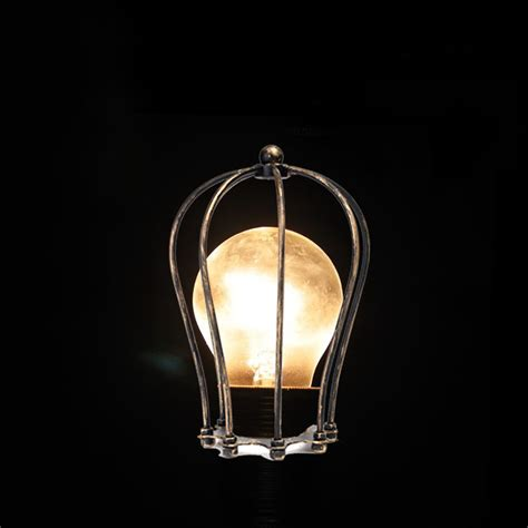 light bulb cage vintage iron wire bulb cage l guard shade trouble