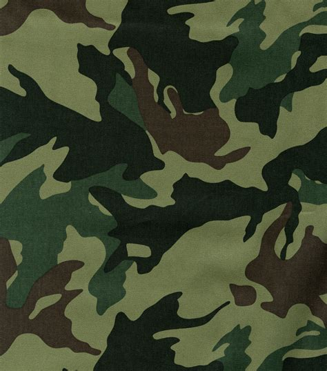 Camouflage Upholstery Fabric by Moss Green Leaf Camo Jo