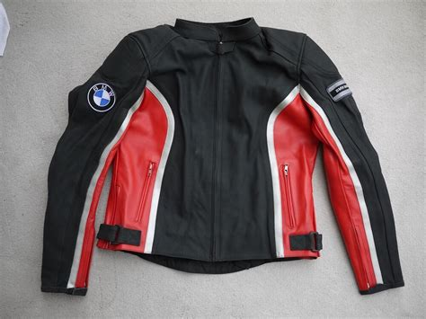 Ladies Bmw Replica Black Red Leather Motorcycle Jacket