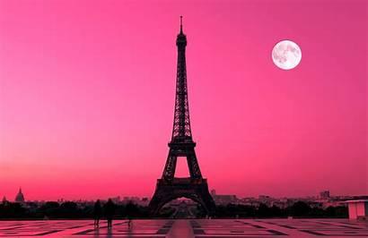 Eiffel Sunset Paris Tower Wallpapers Night Plain