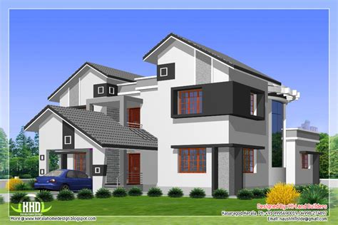 different house plans 2912 sq 5 diffrent type house designs kerala home