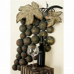 20 ideas of metal grape wall art wall art ideas With grapes furniture and home decor