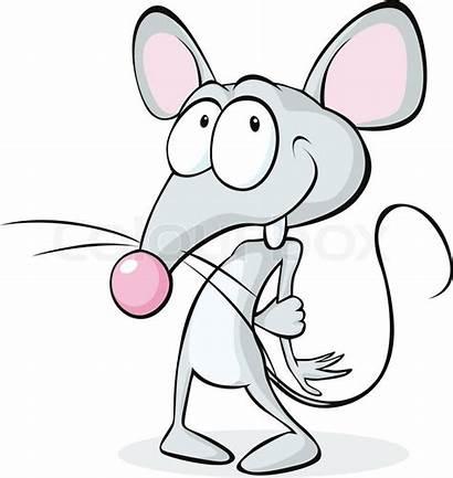 Mouse Shy Cartoon Isolated Vektor Colourbox Hale