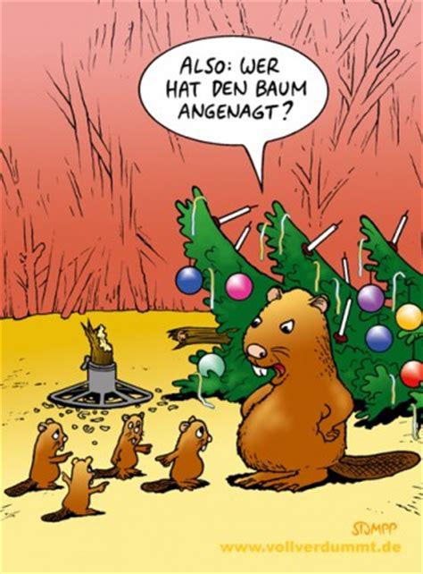 weihnachtsbaum und biber cartoons stumpp vollverdummt