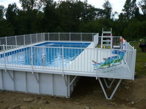 kayak pool  deck  ground pool decks pinterest