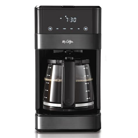 Given how cheap the appliance was i enjoyed that it had a digital clock (used primarily for programmability), and that it looked a lot sturdier and more reliable than other coffee makers in. Mr. Coffee 12 Cup Programmable Coffee Maker, LED Touch ...