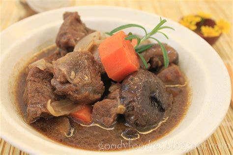 braised beef goodyfoodies recipe braised beef oyster blade stew with mushrooms