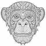 Coloring Monkey Adult Pages Animals Adults Printable Animal Colouring Mandala Sheet Take Books Heart Flowers Awesome Getcolorings Getdrawings sketch template