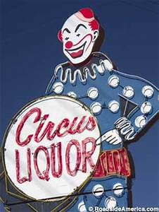Clown Circus Liquor Neon Sign North Hollywood California