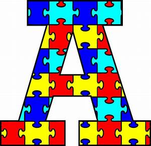 Autism puzzle clipartsco for Puzzle piece letters