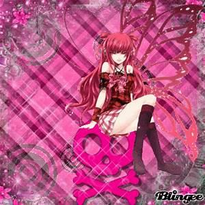 Anime butterfly girl (pink) Bild #125575317 | Blingee.com