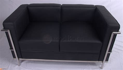 lc2 two seat sofa by le corbusier et al cassina leather le corbusier style lc2 sofa 2 seater black leather