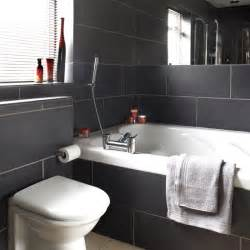 Black And White Bathroom Designs Charcoal Tiled Bathroom Black And White Bathroom Designs Housetohome Co Uk