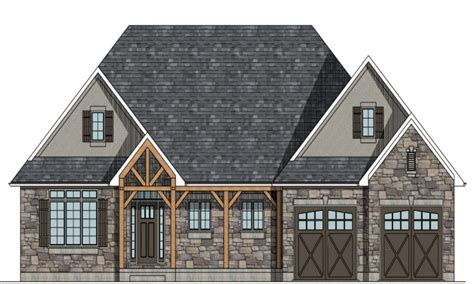 French Country House Plans Raised Bungalow House Plans