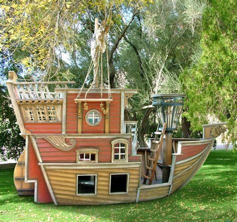 Pirate Ship Backyard Playset by Beard S Pirate Ship Playhouse Eclectic