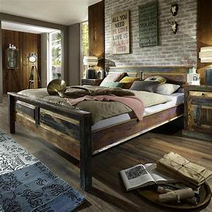reclaimed wooden king bed recycled wood rustic