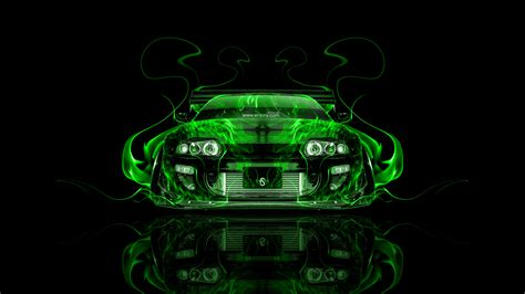 toyota supra jdm tuning front fire abstract car  el tony