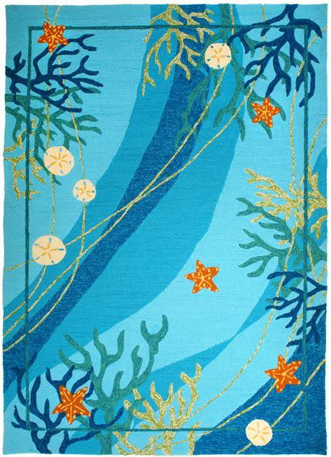 underwater coral starfish rug
