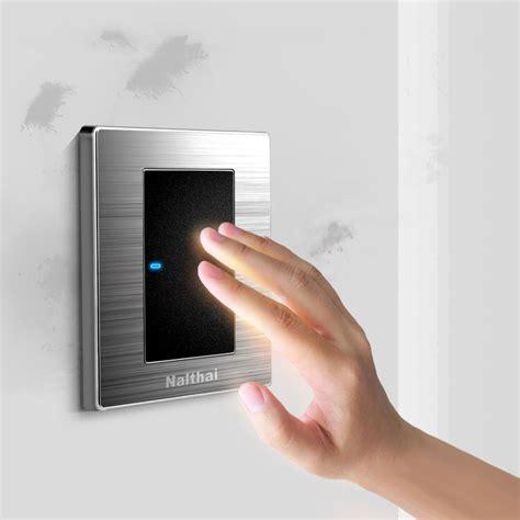 1 1 way luxury led light switch push button wall