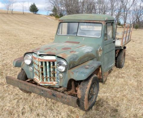 sell    jeep pickup willys overland  ton stake body field find project  ivanhoe