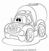 Coloring Cartoon Barrel Funny Hogshead Vector Shutterstock sketch template