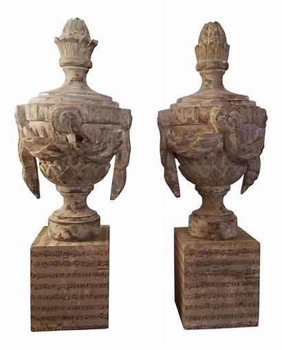 Urn Chairish Wood Swag Statue Carving