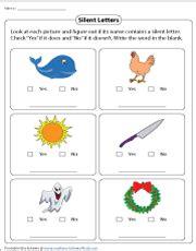 silent letters worksheets