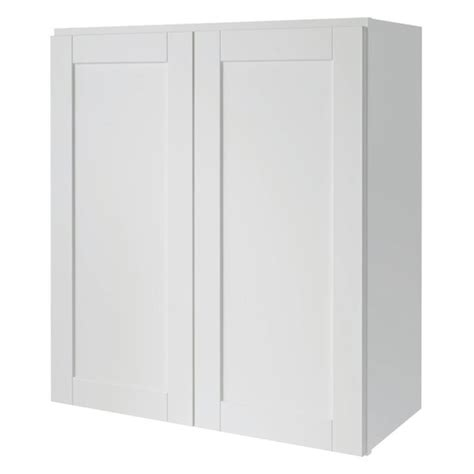 shaker cabinet doors lowes shop now arcadia 27 in w x 30 in h x 12 in d white