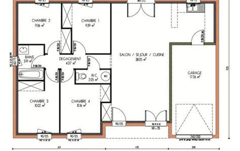 faire un plan de chambre plan et photos maison 4 chambres de 87 m