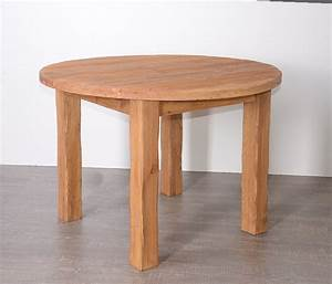 Table En Pin Massif : table ronde en pin massif savoyard ~ Teatrodelosmanantiales.com Idées de Décoration