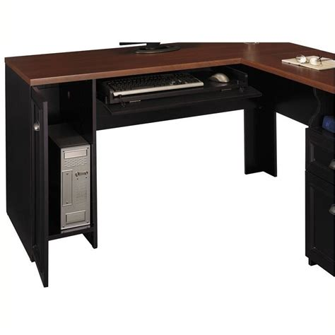 Black Computer Desk L Shaped by Pemberly Row L Shaped Wood Computer Desk In Black Pr 3615
