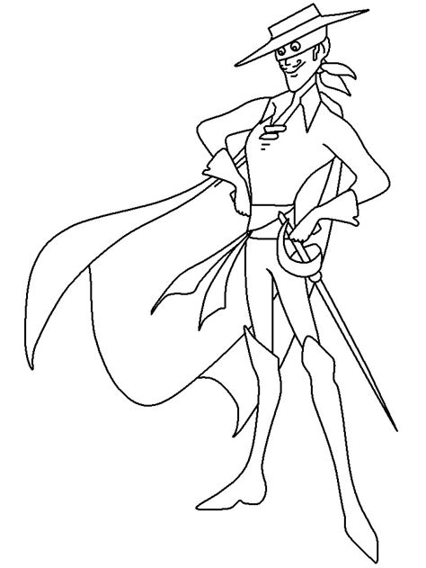 Coloring Pages To Print by Free Superheroes Zorro Coloring Pages To Print Outfree