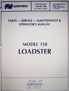 Pu55-172 - Parts  U0026 Service Manual 150 Loadster