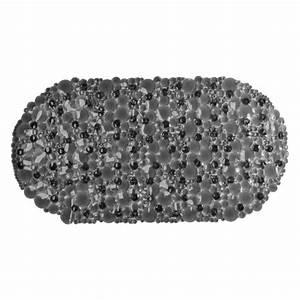 Fond De Baignoire : tapis fond de baignoire bulles gris accessoire douche baignoire eminza ~ Melissatoandfro.com Idées de Décoration