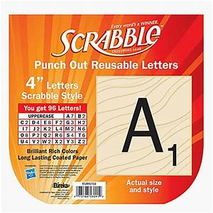 eureka reusable punch out deco letters 4 scrabble letters With punch out letters for bulletin boards