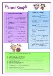 Intermediate Esl Worksheets Present Simple Auxiliaries