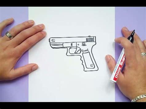 como dibujar una pistola paso  paso    draw  gun