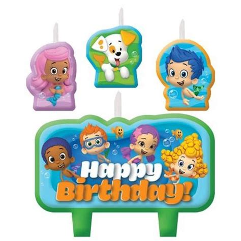 bubble guppies birthday candle set cake toppers