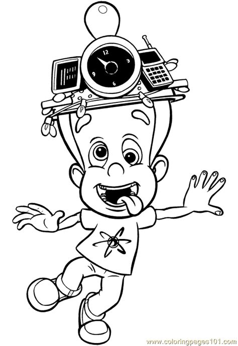 jimneutron coloring page   adventures  jimmy
