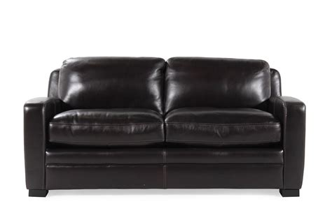 loveseat sleeper leather traditional leather 73 quot sleeper sofa in black