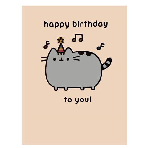Meme Happy Birthday Card - pusheen birthday card official greetings cute crazy cat lady gift present meme ebay