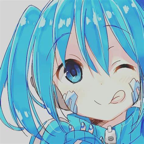 anime blue hair aesthetic wallpaper album