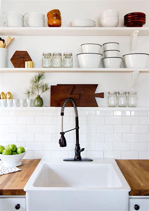 open shelving kitchen 22 ideas for styling open kitchen shelves brit co