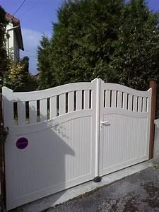 Lapeyre Portail Bois : portail bois blanc portillon lapeyre sfrcegetel ~ Premium-room.com Idées de Décoration