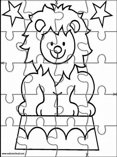Puzzles Jigsaw Printable Cut Activities Coloring Pages