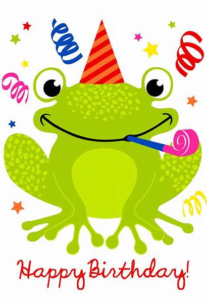 Birthday Happy Cards Card Greetings Frog