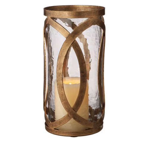 accents home tangier large antique gold pillar candle holder midwest cbk