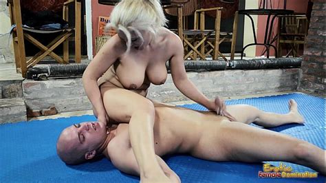 Nude Mixed Wrestling Fight With A Handjob