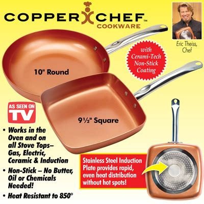 copper chef cookware  stick pans  collections